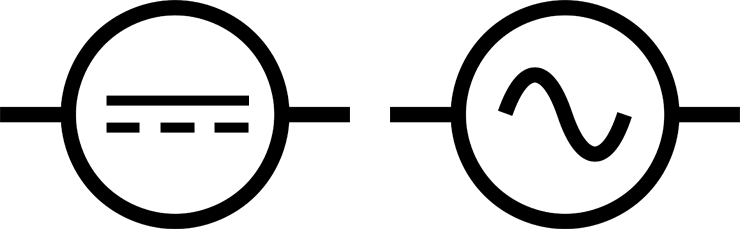 Atemberaubend Symbol Für Wechselstrom Und Gleichstrom Ideen - Die ...
